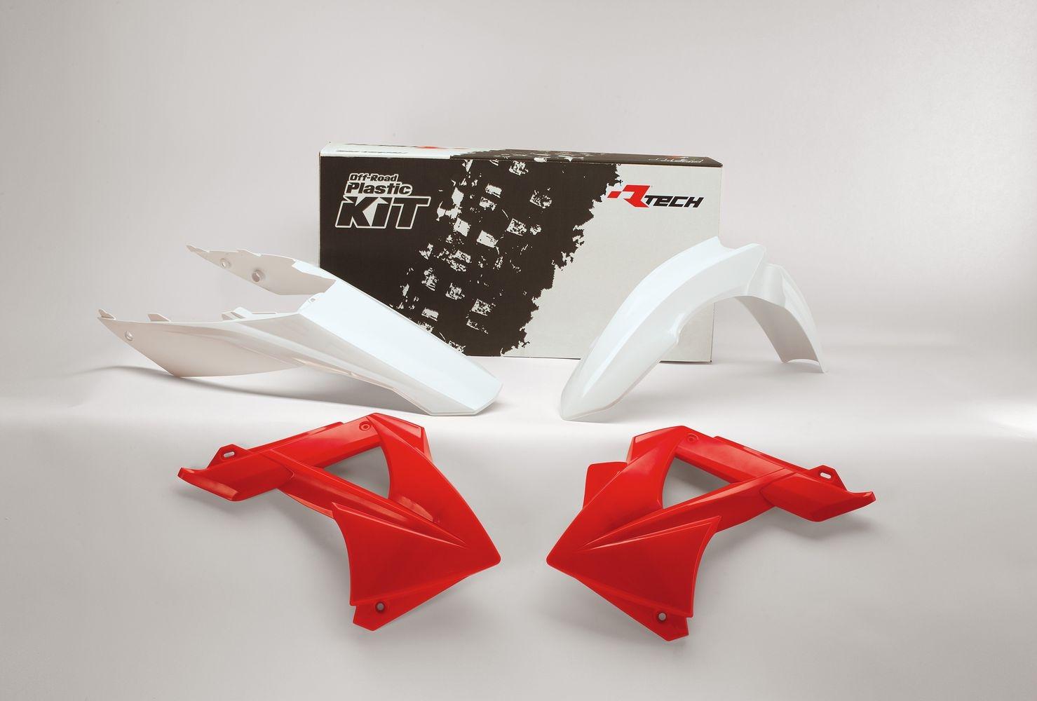 Kit plastique Racetech rouge et blanc pour Gas Gas EC 250 11-13