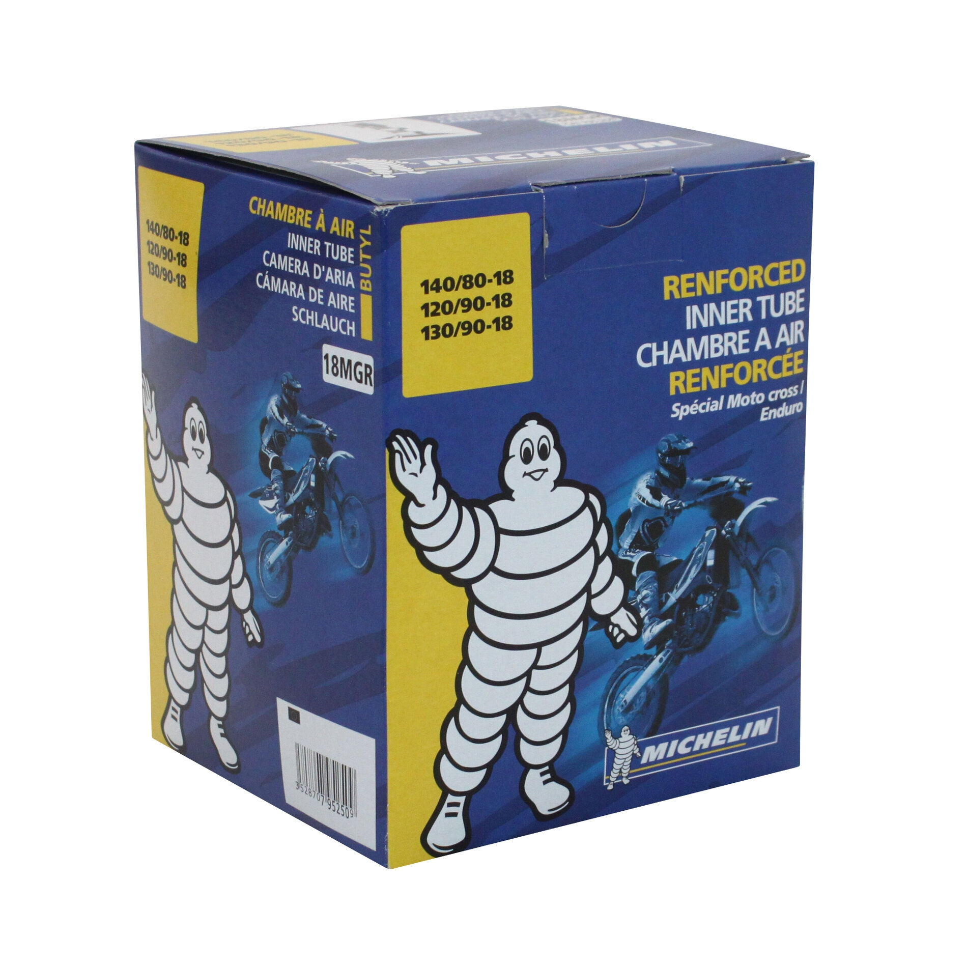 Chambre à air Michelin offroad 140/80-18 valve droite