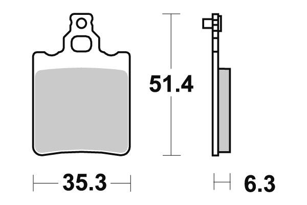 Plaquettes de frein SBS céramique 106HF