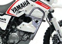 Barres de protection latérale aluminium gris Bihr pour Yamaha XT 660 Z