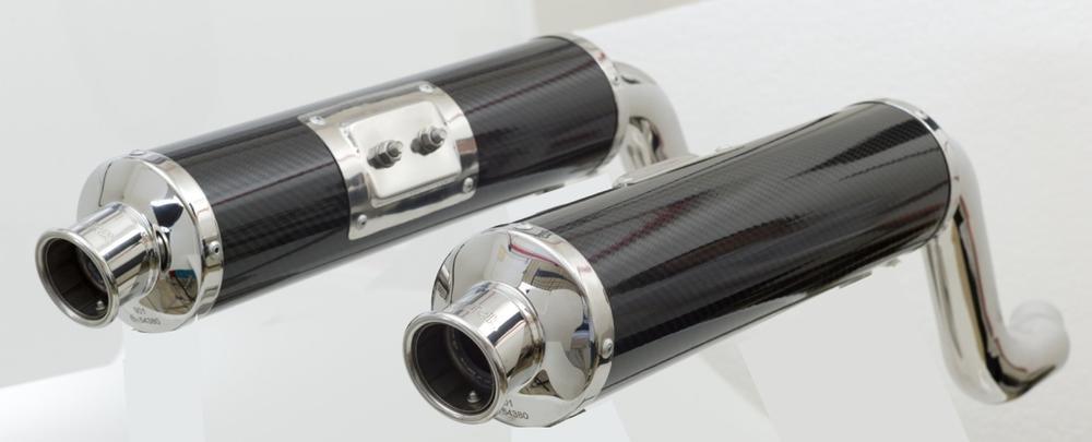 Silencieux homologués SPARK ronds carbone pour Ducati Monster 600 94-0