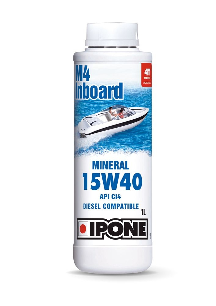 Huile moteur 4T Ipone M4 Inboard 15W40 1L