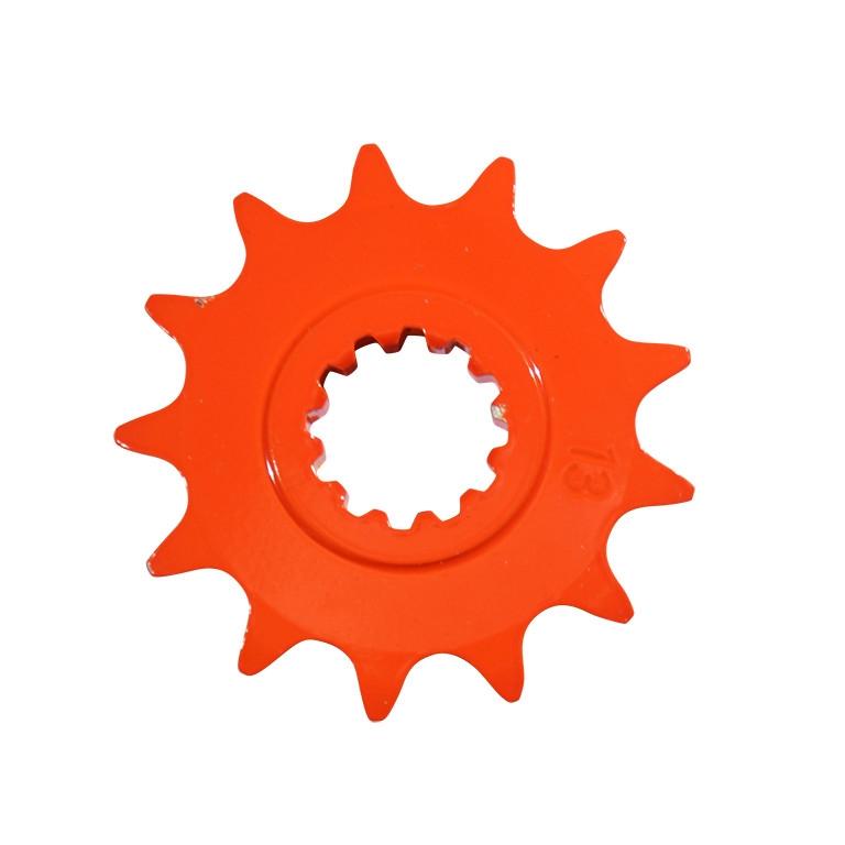 Pignon 12 dents pas 420 Minarelli AM6 orange