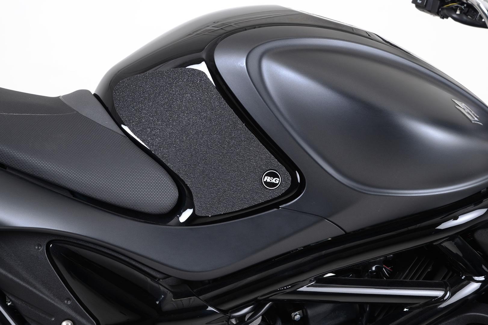 Kit grip de réservoir R&G Racing noir Suzuki SFV 650 Gladius 09-16