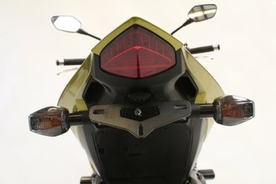 Support de plaque dimmatriculation R&G Racing noir Honda CB 1000 R 08