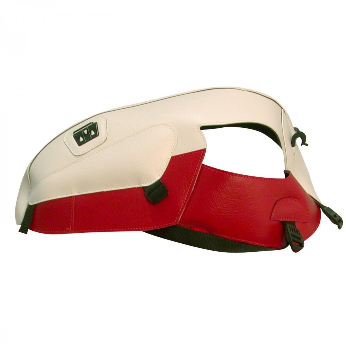Protège-réservoir Bagster Triumph Scrambler 06-07 blanc/rouge fonce
