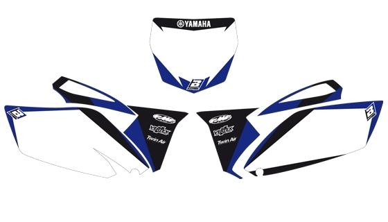 Fonds de plaques Blackbird Dream Graphic 2 Yamaha 250 YZ-F 10-13 blanc