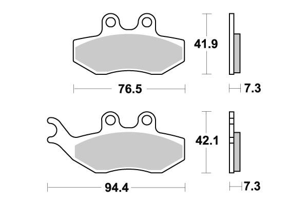 Plaquettes de frein SBS céramique 168HF