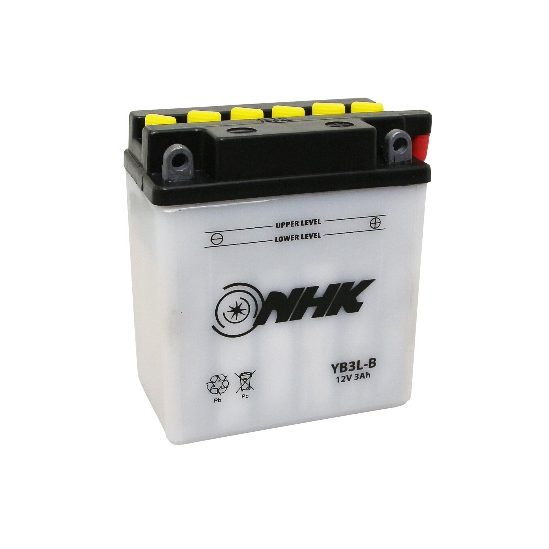 Batterie NHK YB3L-B 12V 3Ah avec entretien