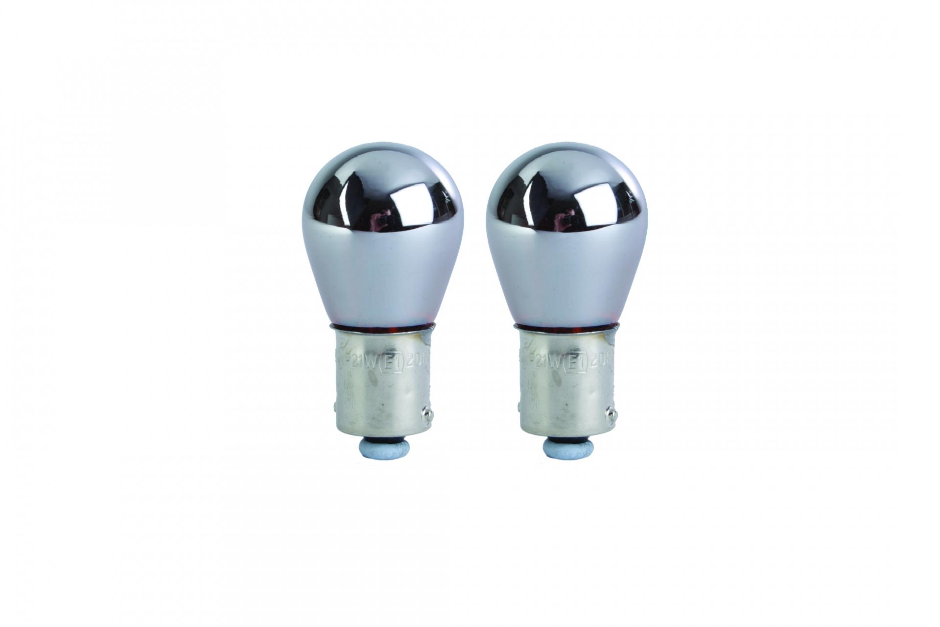 Ampoules BA15S Chromé 12v x 21w