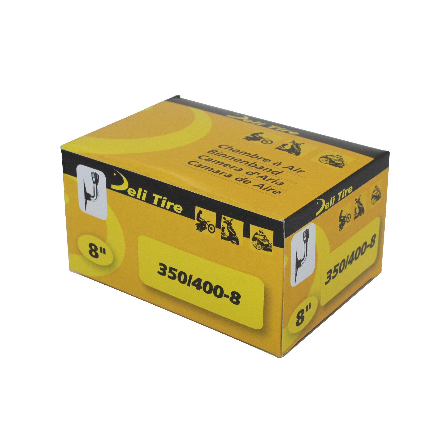 Chambre à air D.8 3.50/4.00x8 Deli standard coudée