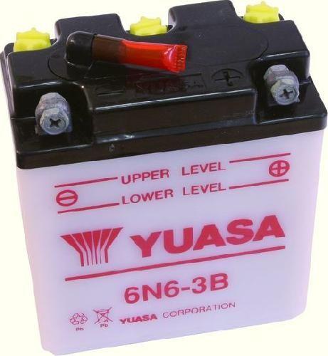Batterie Yuasa 6N6-3B 6V 6Ah