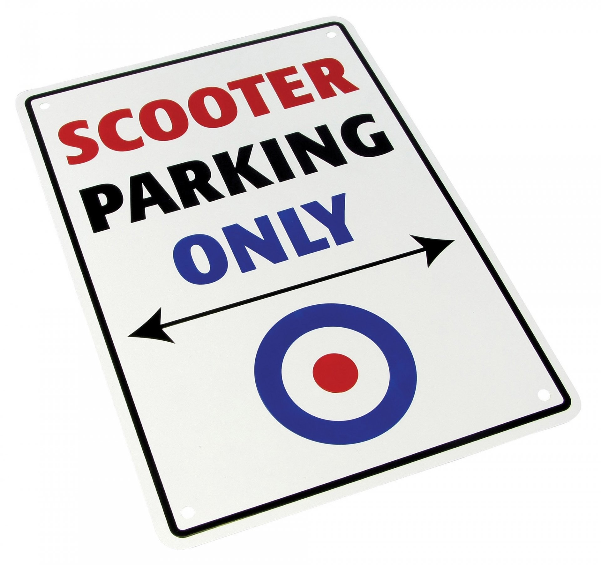 Plaque de parking Scooter parking only