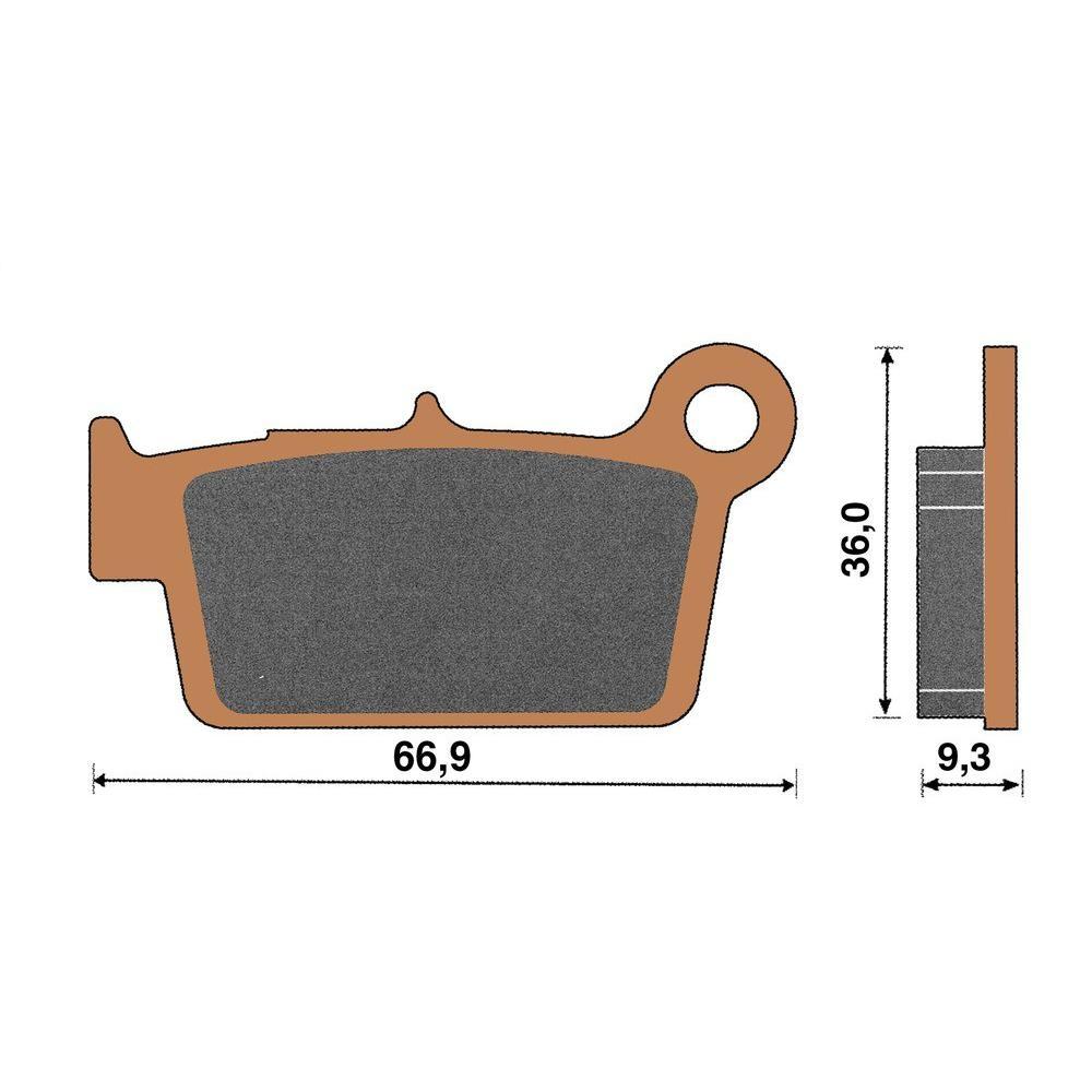 Plaquette de frein céramique arrière RR Enduro 250/450