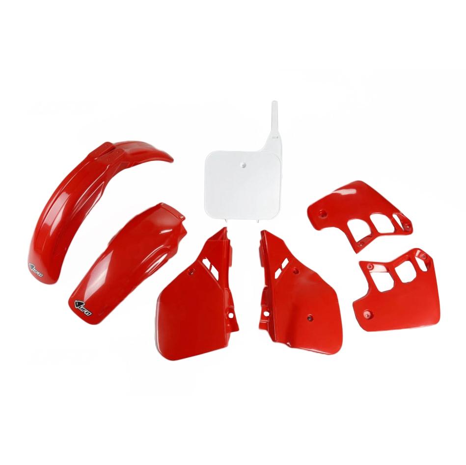 Kit plastique UFO Honda CR 125R 89-90 rouge/blanc (couleur origine 89)