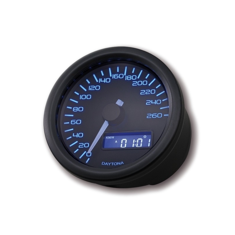 Compteur de vitesse Daytona Velona 260 km/h noir