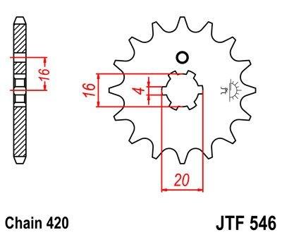 Pignon JT Sprockets Acier pas 420 15 dents - Pour Yamaha PW 80 91-06
