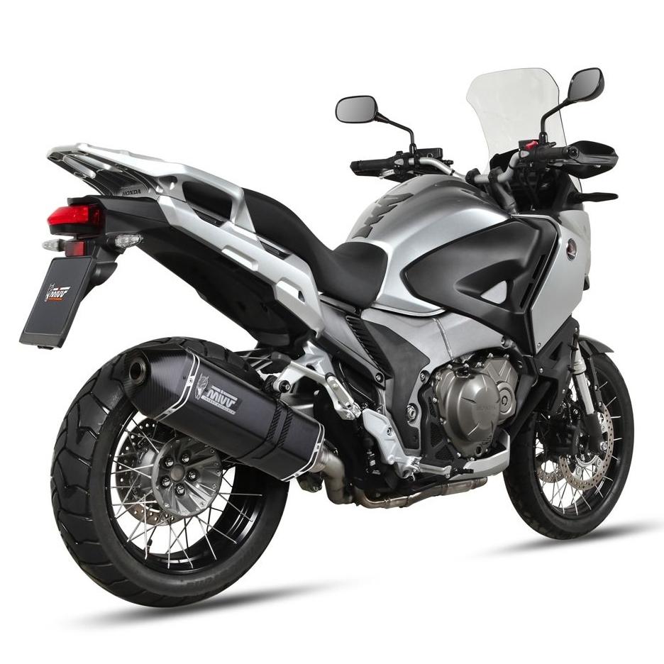 Silencieux Mivv Speed Edge inox noir Honda 1200 Crosstourer 12-16