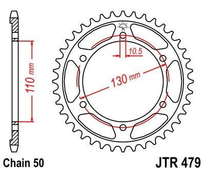 Couronne JT Sprockets Acier pas 530 47 dents - Pour Yamaha YZF-R1 98-0