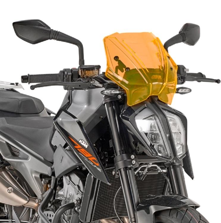 Saute-vent Givi Orange KTM 790 Duke 2018 orange