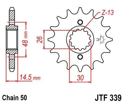 Pignon JT Sprockets Acier pas 530 15 dents - Pour Honda CB 1300 03-13