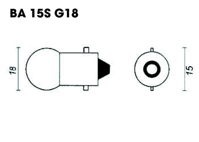 Ampoule G18 BA15S P21W 12V 21W