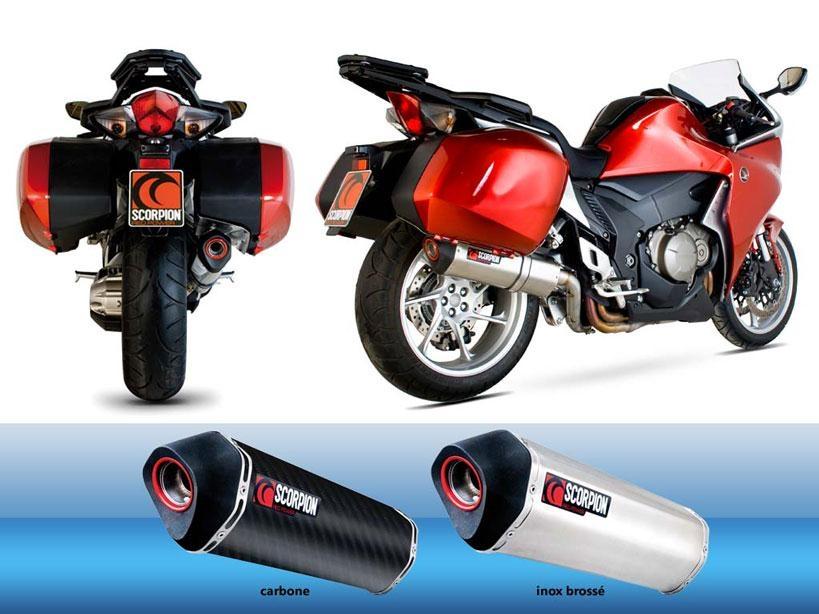 Silencieux homologué Scorpion Serket carbone pour Honda VFR 1200 F 10-