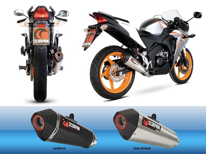 Silencieux Scorpion Serket carbone pour Honda CBR 125 R 11-