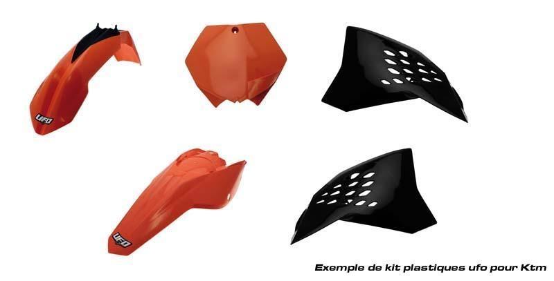 Kit plastique UFO KTM 125 SX 2012 noir