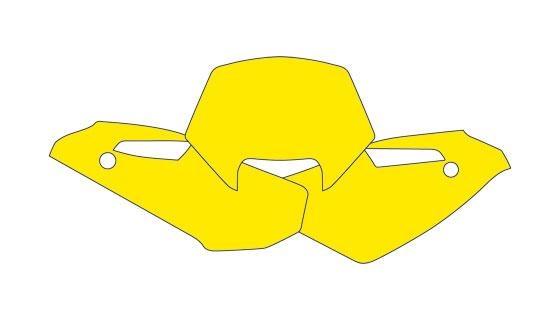 Fonds plaque hva wr250,300 09-10 jaune
