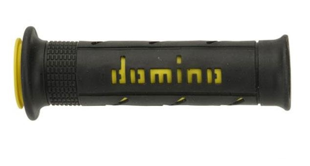 Revêtement Domino lisse 125mm noir/jaune A250