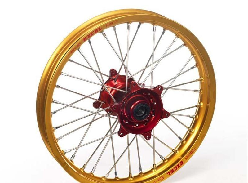 Roue arrière Haan Wheels/Excel 19x2,15 Honda CRF 450R 02-12 or/rouge