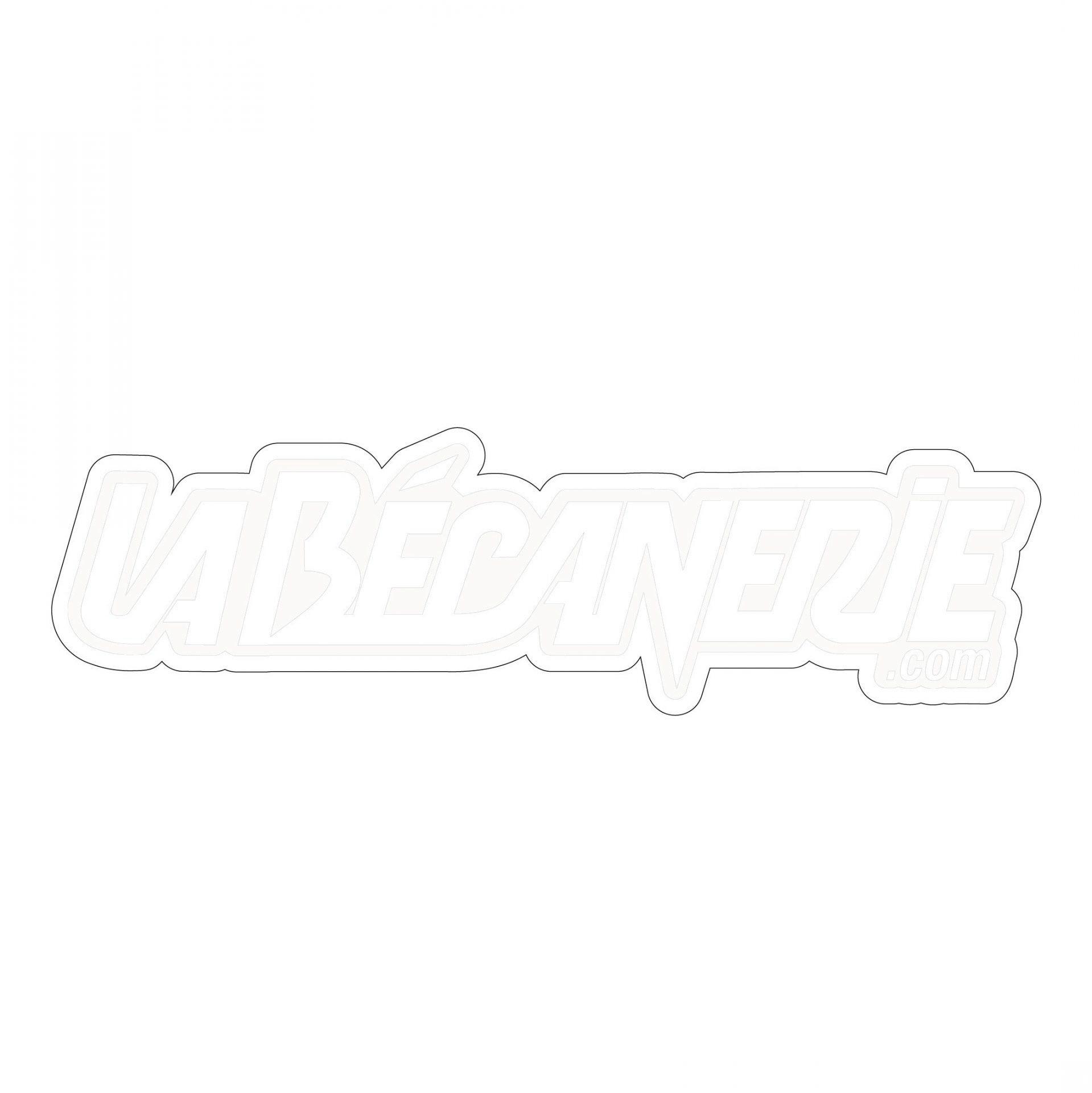 Autocollant La Bécanerie 12.5 cm blanc / transparent