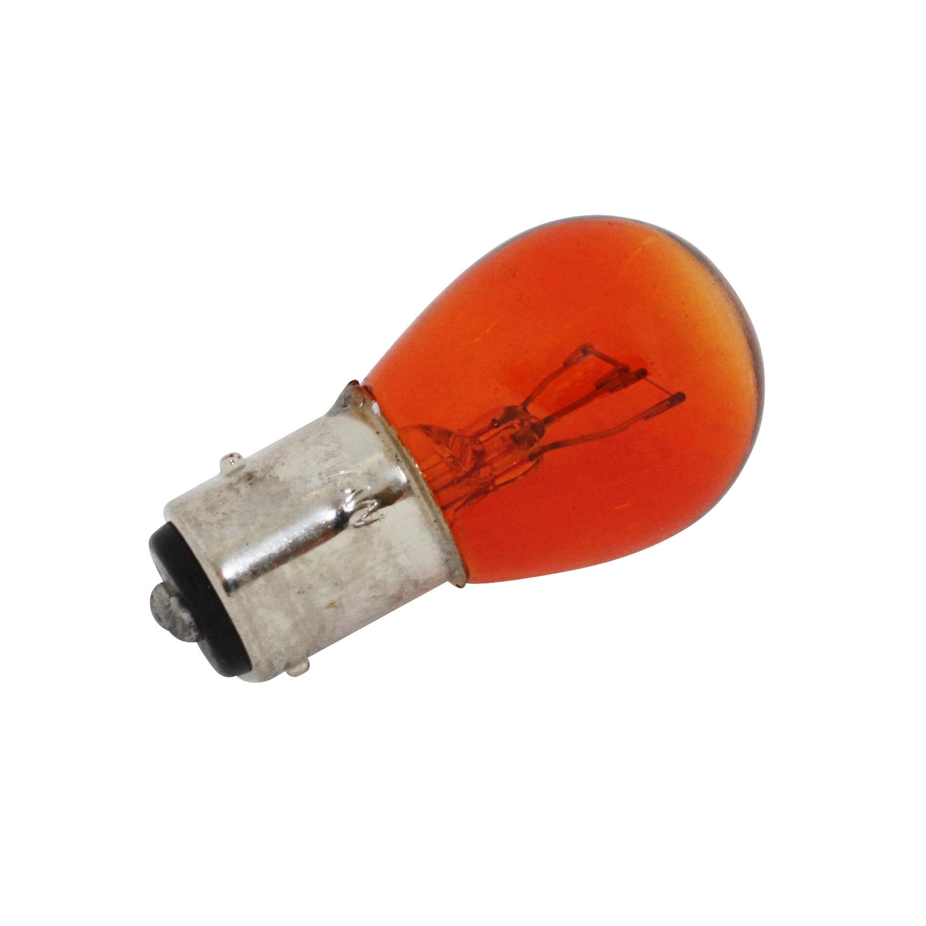 Ampoule BAY15D S25 stop/feu 12V 21/5W Orange