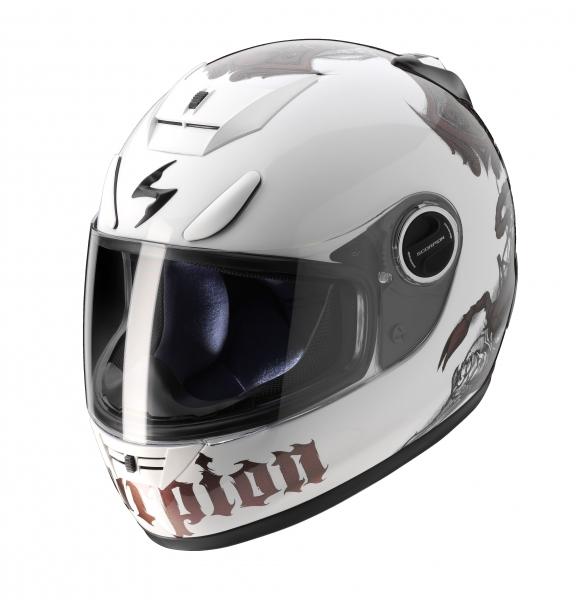 Casque intégral Scorpion EXO-750 AIR blanc/caméléon - XL