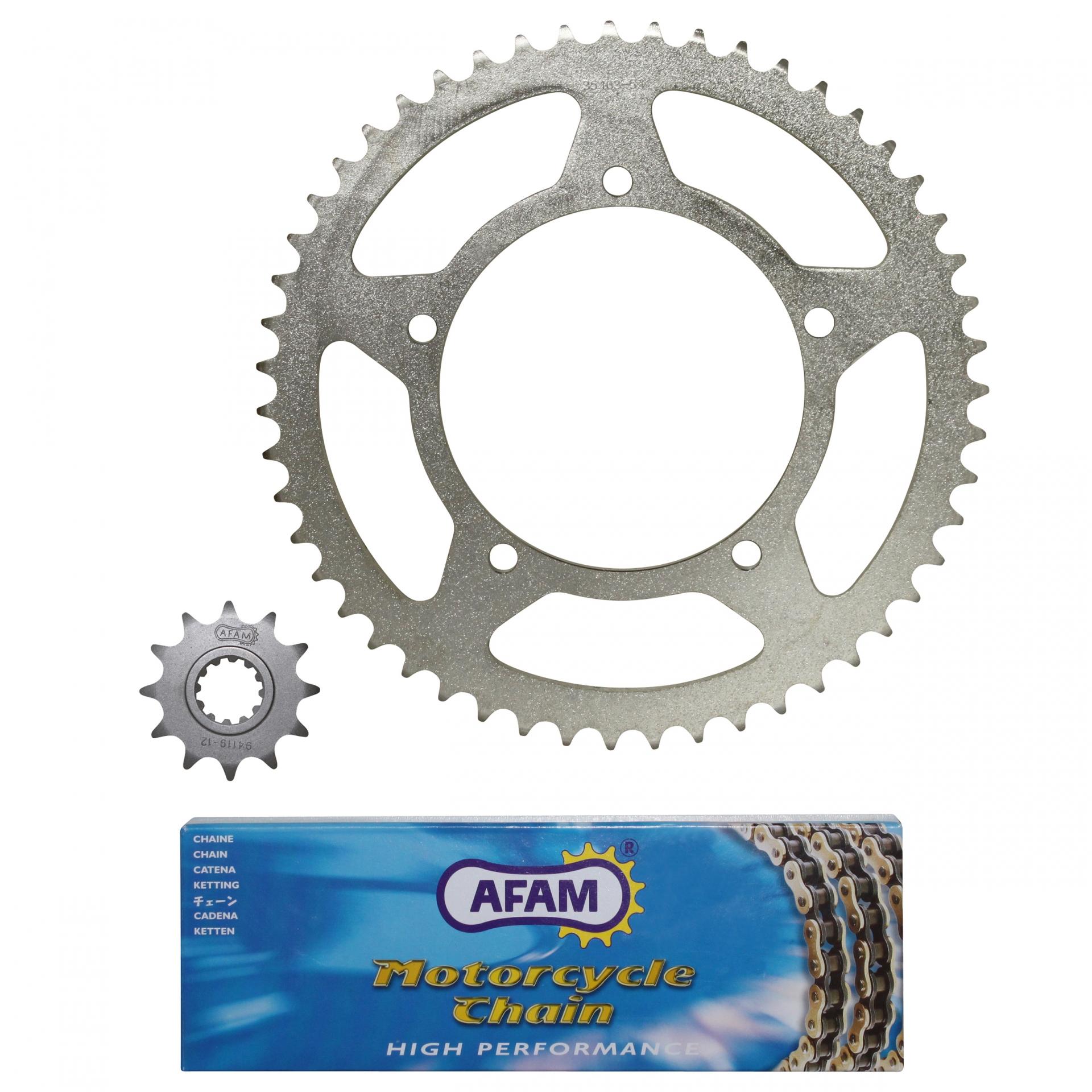 Kit chaîne Afam 12x51 Aprilia 50 RX 99-01