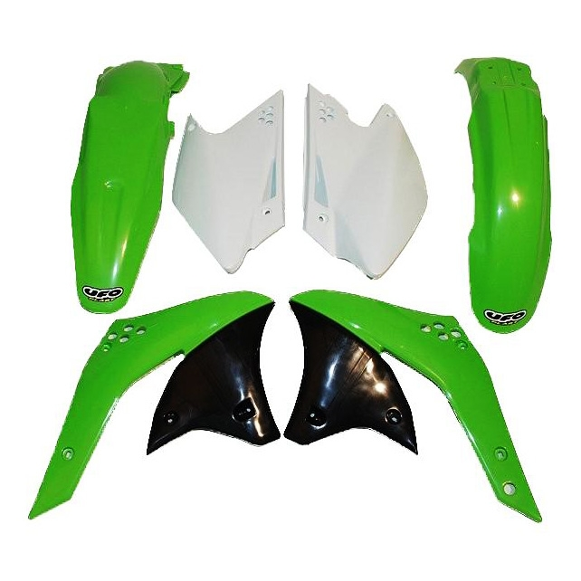 Kit plastique UFO Kawasaki 250 KX-F 2006 vert/blanc (couleur origine)