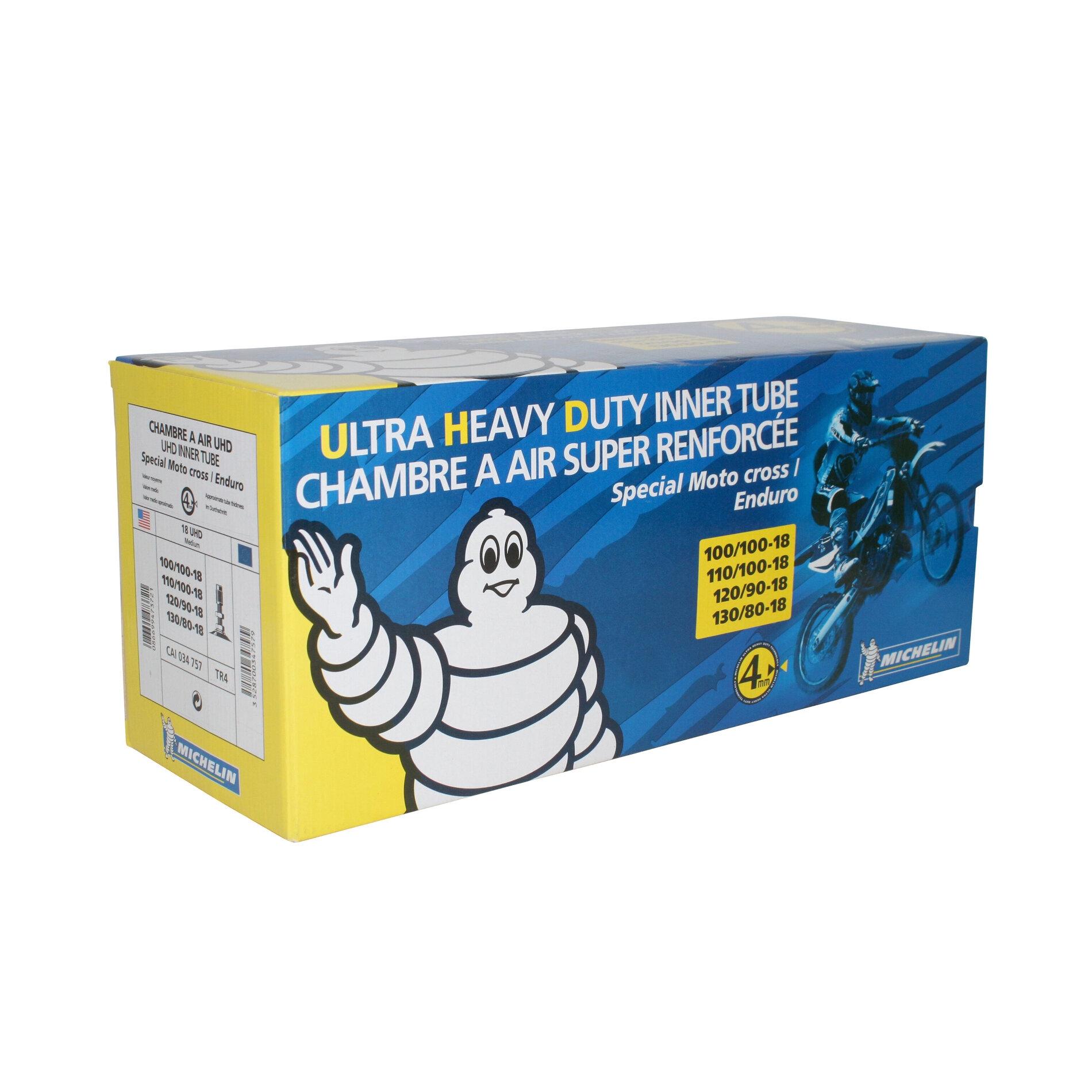 Chambre à air Michelin offroad UHD 120/90-18 valve droite