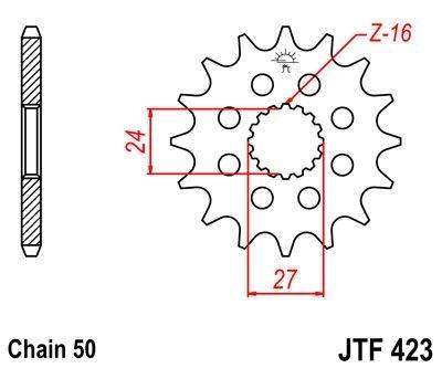 Pignon JT Sprockets Acier pas 530 18 dents - Pour Suzuki GSX 1300 B-Ki