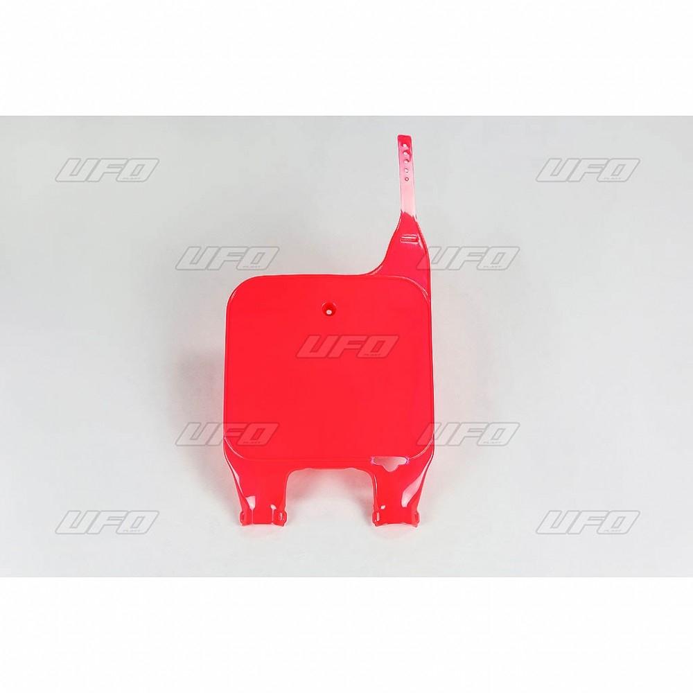 Plaque numéro frontale UFO Honda CR 125R 90-94 rouge (rouge CR 92-99)