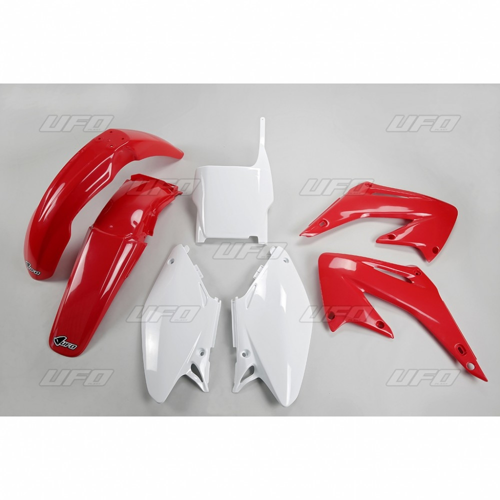 Kit plastique UFO Honda CR 125/250R 05-07 rouge/blanc (couleur origine