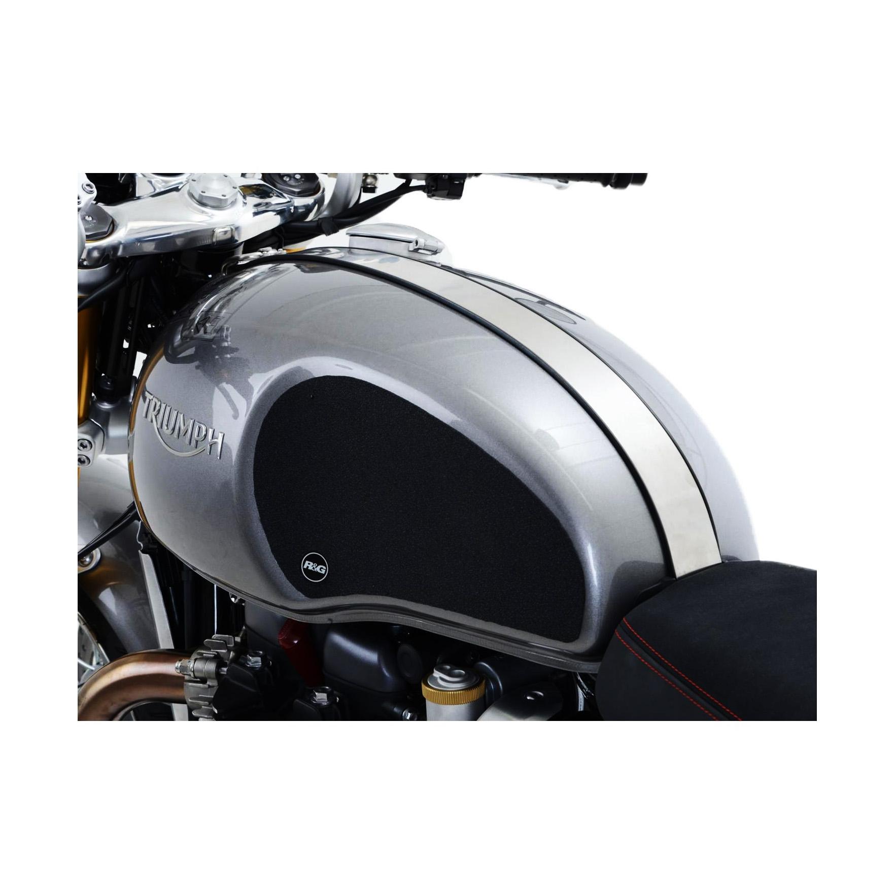 Kit grip de réservoir R&G Racing noir Triumph Thruxton 1200 16-18