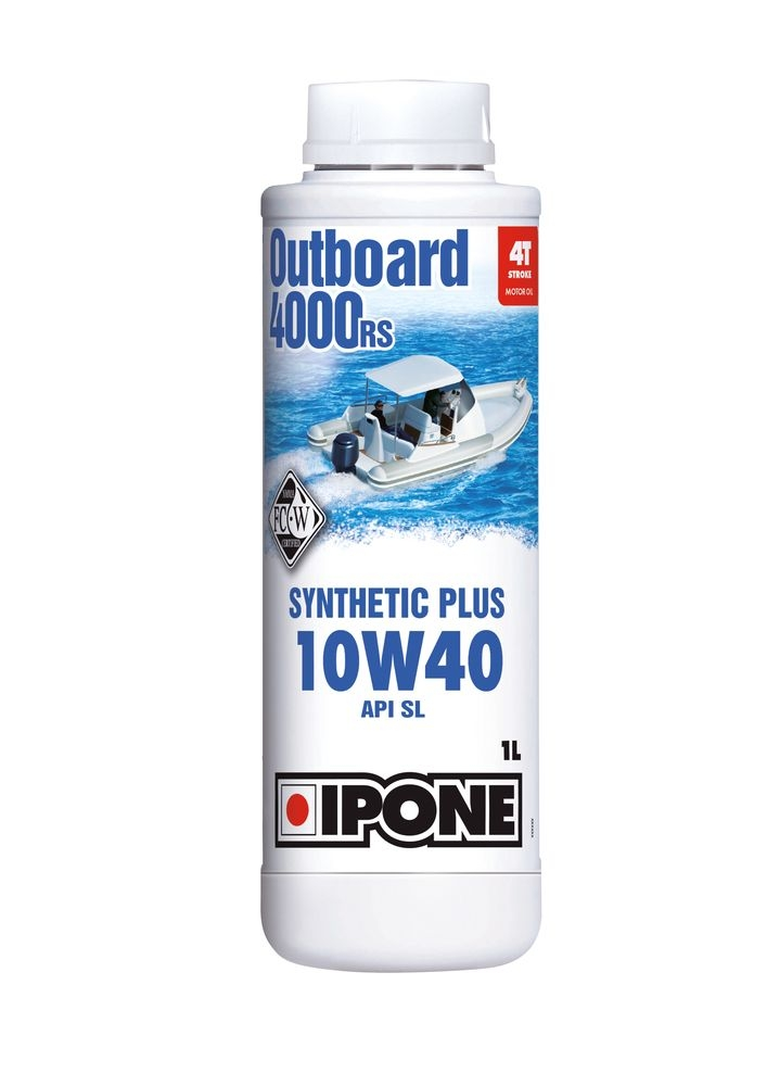 Huile moteur 4T Ipone Outboard 4000 RS 10W40 1L
