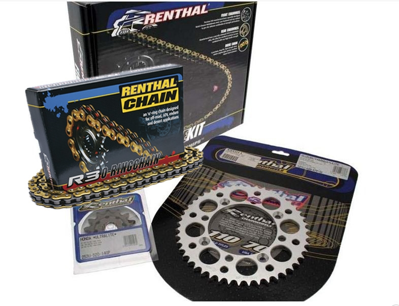 Kit chaîne Renthal renforcé 14X50 pas 520 KAWASAKI KLX 300 de 1998 à 2