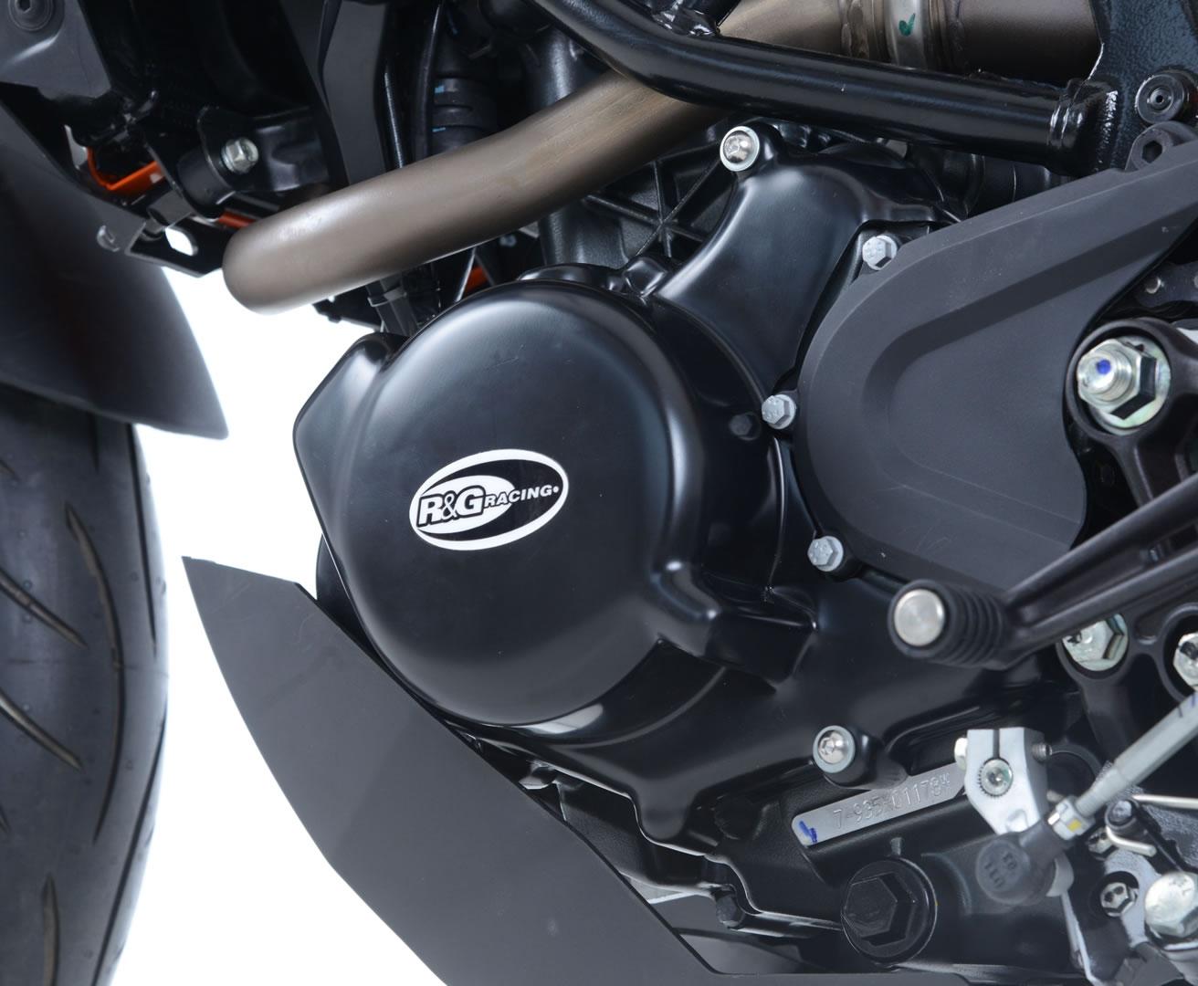 Couvre carter gauche R&G Racing noir KTM Duke 125 17-18