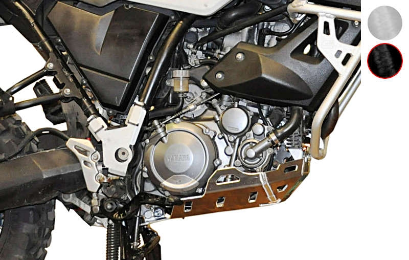 Sabot moteur Bihr aluminium noir pour Yamaha XT 660 Z Ténéré 08-12