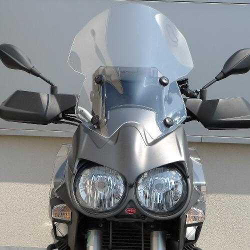 Pare-brise Bullster haute protection 56 cm incolore Moto Guzzi 1200 St