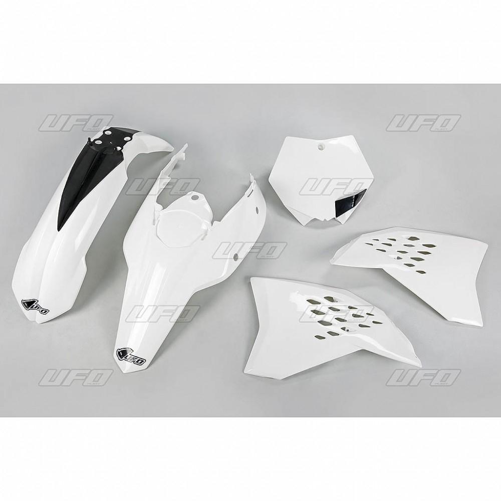 Kit plastique UFO KTM 125 SX 07-08 blanc