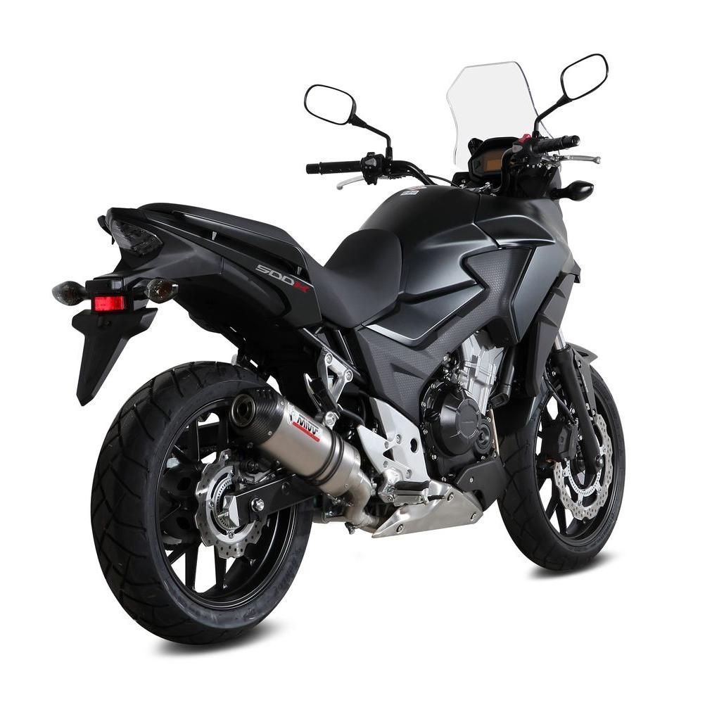 Silencieux Mivv Oval Titane casquette carbone Honda CB 500 X 2016
