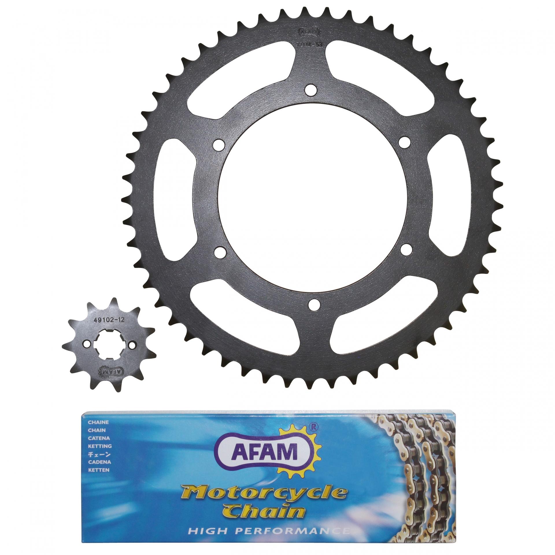 Kit chaîne Afam 11x53 Derbi 50 GPR 06-